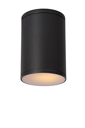 Lucide tubix-Techo Diámetro Exterior-Foco 10,8cm-IP54-Negro