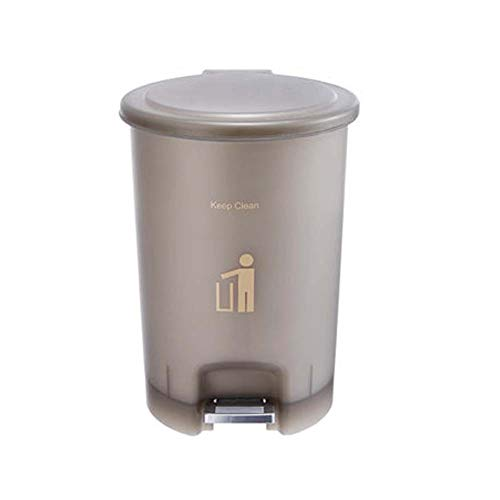 Mülleimer Für Küche Kunststoff, Treteimer Baddeckel Und Kunststoff-Inneneimer, Recycling-Abfalleimer-Transparent Braun