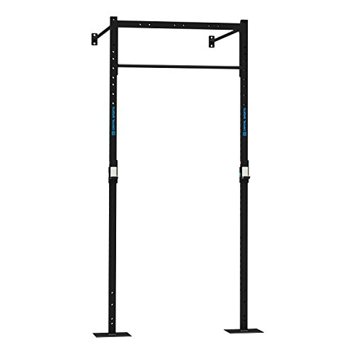 CAPITAL SPORTS Dominate W Base 120.150 Wall Mount Wandmontage Anbauteil Power Rack 120 x 270 x 150 cm (1 x Pull-up Station 2 x J-Cups 1 x Squat Station) Stahl schwarz