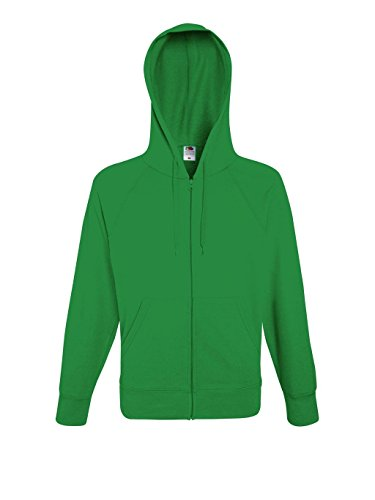 Fruit of the Loom: Lightweight Hooded Sweat Jacket 62-144-0, Größe:L;Farbe:Kelly Green (Green Kelly)