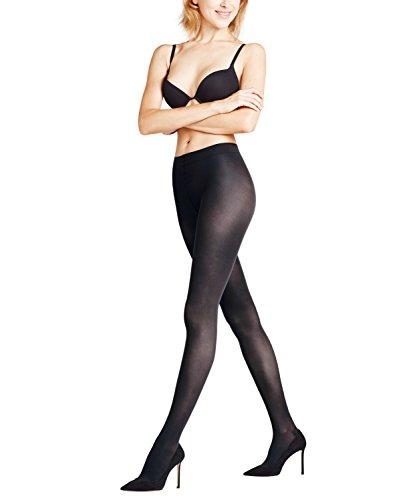 FALKE Damen Strumpfhosen Leg Vitalizer 40 den - 1 Paar, Gr. L, schwarz, matt semi-blickdicht durchblutungsfördernd, 3D