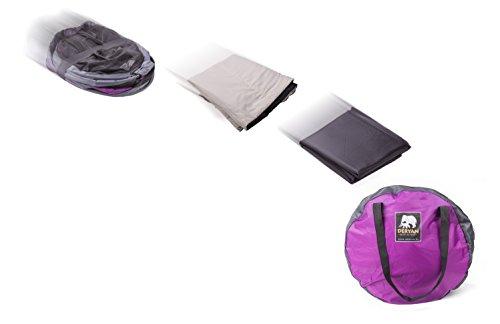 Deryan Reisebett/Travel-cot Peuter Reisebettzelt inklusive Schlafmatte, selbstaufblasbarer Luftmatratze und Tragetasche mit Pop-Up innerhalb 2 Sekunden aufgebaut, purple