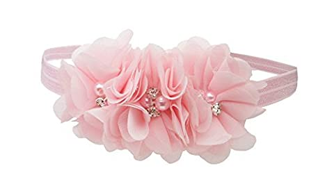 Petals Pink Headband for Baby Girl with Flower Accents by Cherished Moments