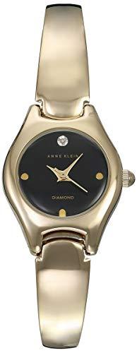Anne Klein Classic Reloj de Mujer Cuarzo 23mm Correa de Acero AK/2554BKGB