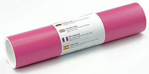 Selbstklebende Wandtattoo-/ Plotterfolie Vinylfolie matt 21 cm x 3 m, Farbe:Pink