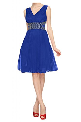 Sunvary ginocchio Romantic una linea Party Homecoming Gowns per bambini Blu