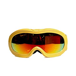 SonMo Motorrad Brille Fahrbrille Sportbrille Arbeitsbrille Schneebrille Snowboardbrille Radbrille Skibrille PC Gelb Polarisiert Sportbrille Blendschutz mit UV Schutz Winddicht