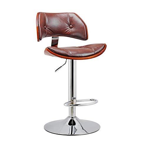 WYYY Bürostuhl Barhocker Gaslift Dauerhaft Barstühle Frühstück Küche Zuhause PU-Sitz Drehung Durable stark (Farbe : T3)