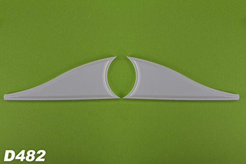 1 paire Décor Éléments pour haut Pignon D481, stuc antichoc 108 x 310 mm, d482