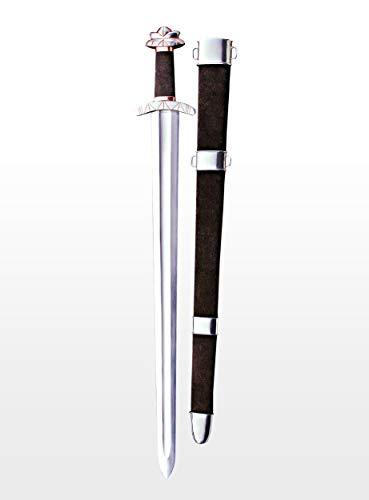 Supreme Replicas Handgeschmiedetes mittelalterliches Schaukampf Schwert aus hochwertigem Karbonstahl- Wikinger Stiklestad mit ()