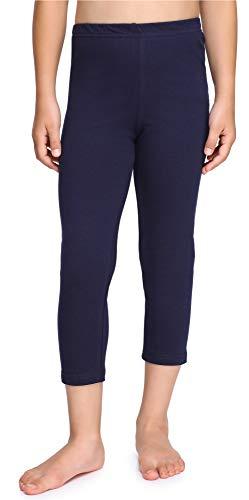 Merry Style Leggings 3/4 Bambina e Ragazza MS10-226(Blu Marino, 134 cm)