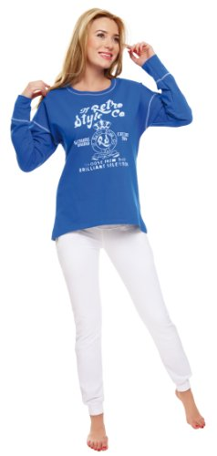 Italian Fashion IF Sweat Shirt de Sport Femmes Cora Bleu