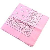 Essex Marketplace Baby Pink Bandana–Paisley estilo cuadrado Bikers cabeza bufanda cuello muñequera