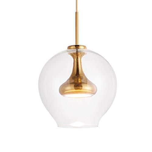 Topdeng moderno led 10w bicchiere lampada plafoniera, creativo ristorante appesa luce sospensione soggiorno camera da letto metallo lampade a sospensione-d'oro bianco caldo