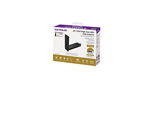 Netgear AC1200 A6210-100PES USB High Gain Dual Band Wi-Fi Adapter (Black)