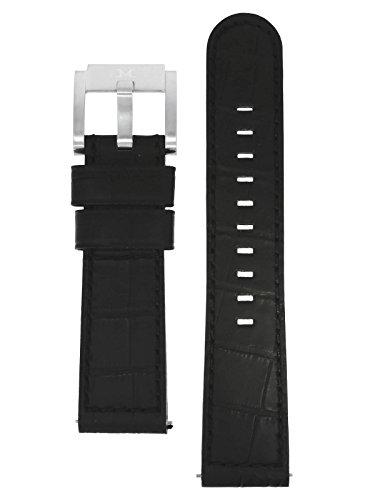 TW Steel Marc Coblen Armband Uhrenband Uhrenarmband Leder 22 MM Kroko Schwarz LB_BK_K_S