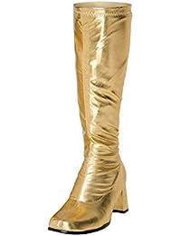 Para Dorado Zapatos Botas Amazon es Mujer Y wgUOpgH0x