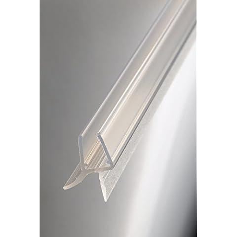 Guarnizione di ricambio 100cm con guarnizione per 6mm/8mm Spessore del vetro Guarnizione impermeabile doccia box doccia Paraspruzzi