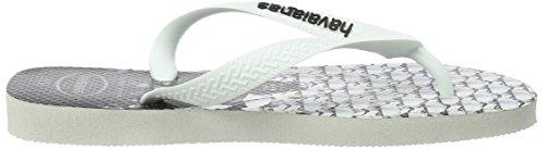 Havaianas Star Wars Unisex-Erwachsene Durchgängies Plateau Sandalen Mehrfarbig (White/White 0198)
