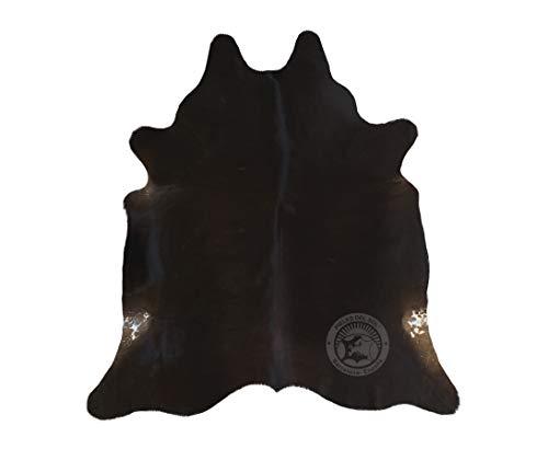 Teppich aus Kuhfell, Farbe: Dunkler Ton, Größe circa 190 x 160 cm, Premium - Qualität von Pieles del Sol aus Spanien