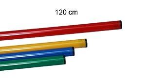 agility sport pour chiens - jalon, longueur 120 cm, Ø 25 mm, rouge - 1x 120r