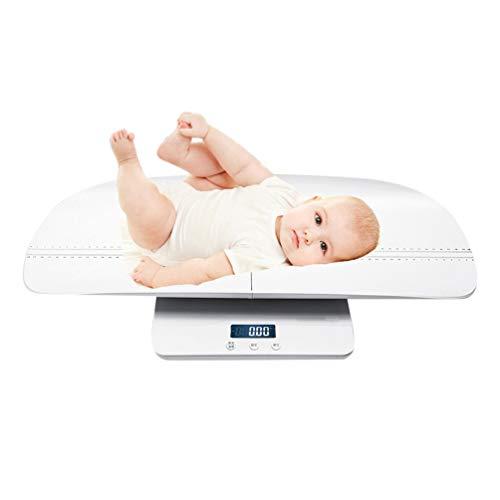FCGV Elektronische LCD-Bildschirm Digital Körperfettwaage Babywaage Badezimmer Gym Gewicht - weiß und hellblau