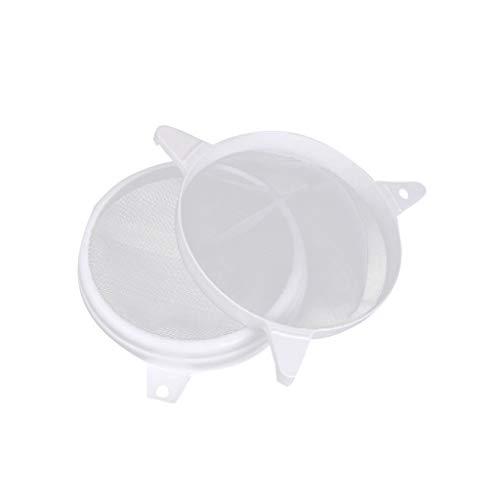 Edelstahl-doppel-griff (yuiopmo 15 Imkereibedarf Honig Filter Sieb Edelstahl Imker Werkzeug, Bienenzucht Doppel Einstellen Bienenhaus Ausstattung (24X24cm, Weiß))