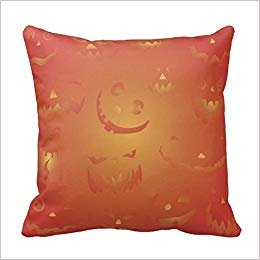 n Faces Halloween Pillowcases Standard Size,Cover Size:18 x 18 Inch(45cm x 45cm) ()