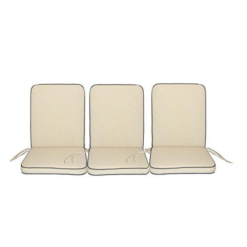 Polsterauflage OUTLIV. Romeo 3-Sitzer Bankauflage mit Reißverschluss Sitzauflage Gartenmöbel