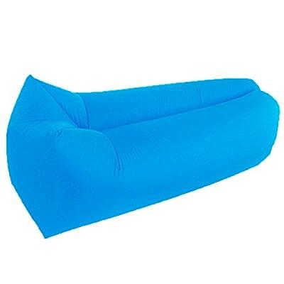 Aufblasbares Sofa, Wasserdichtes Outdoor-Sofa, Bequem Tragbarer Schlafsack Sitzsack aus Strapazierfähigem 210D Oxford cloth für Camping, Reise, Strand, Park, Garten (Blau)