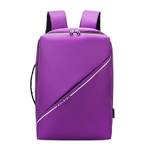 Rucksack Herren Casual Large Capacity Schultertasche Multifunktions Business Laptop-Tasche Sport Rucksack Lila Einheitsgröße