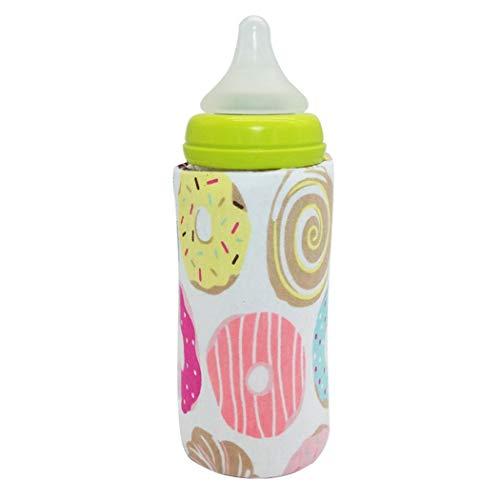Hanime Tragbarer Reise-Baby-Babyflaschenwärmer-Beutel beheizter Deckel Flaschenwärmer & -abkühler