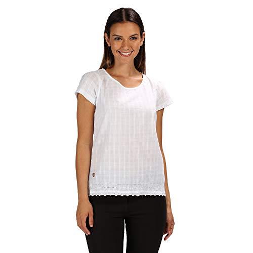 Regatta Jakayla T-Shirt Women White Dobby Größe 20   46 2019 Kurzarmshirt - Dobby Kurzarm-shirt