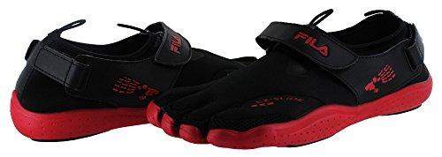Fila Skeletoes EZ Slide Herren Schuhe mit separaten Zehen, britische Größen BLK/RD/CSK