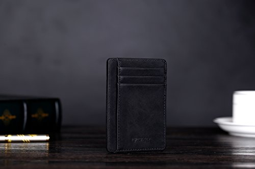 31kOW6oCiTL - Kronya | Elegant Leather Wallet with RFID Protection | Wallet Case Money Clip Holder Credit Card Holder