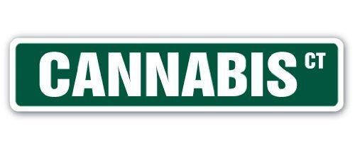 Zitat Aluminium Cannabis Street Schild Hanf Weed Kräuter Drug Haschisch narkotischen Illegale Metall Geschenk Schild, Dekoration - Kräuter-hanf