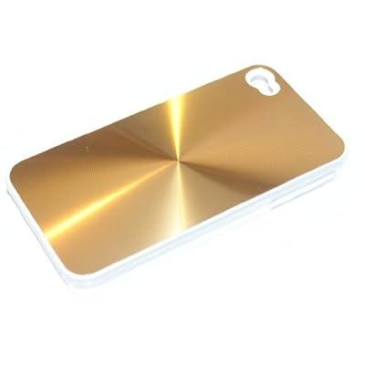 "Slabo Hardcase Case Schutzhülle für Apple iPhone 4 - ""Aluminium Alu   Metall Optik"" - GOLD von Slabo - Lampenhans.de"