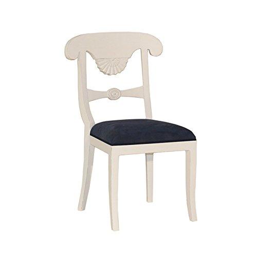Stuhl Franziska Mahagoni weiß Landhausmöbel Stilmöbel weiß Esszimmerstuhl Küchenstuhl