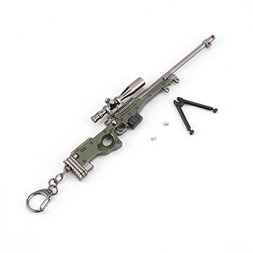 (Neuheit Simulation Waffe Modell AWM Keychain Autoschlüssel Ring Anhänger Schlüsselanhänger Männer Schmuck Dekoration Keychain Geschenk)