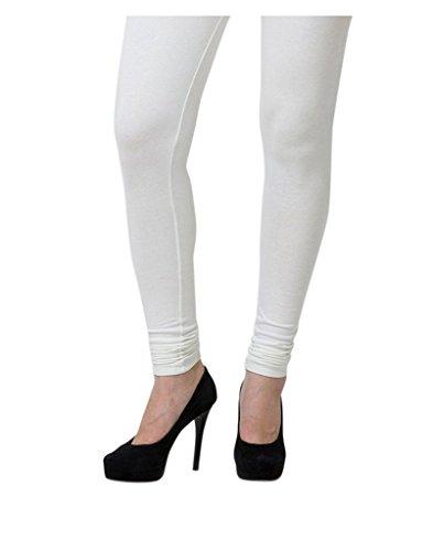 0-Degree Women's Cotton Churidar(0DegreeLeggings9OffWhiteXL__X-Large)