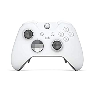 White Edition Xbox One Elite Rapid Fire Custom Modded Controller 40 Mods für alle großen Shooter Spiele, Auto Aim, Quick Scope, Auto Run, Sniper Breath, Jump Shot, Active Reload und mehr