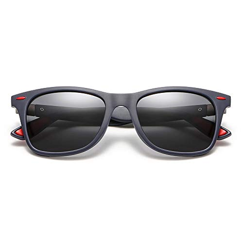 xinzhi Polarized Sonnenbrillen, Retro Driving Glasses Herren-Sonnenbrillen Fashion Goggles Scrub Polarized Sonnenbrillen - # 2, Sand Blue Frame Grey