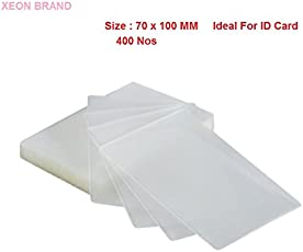 XEON Professional Thermal Laminating Pouch Film (70 x 100) MM Pack of 400pcs: Clear Film 125 Micron