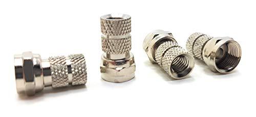 MainCore 10er Pack für RG6-Kabel, F-Stecker, Twist-on-Anschluss, Adapter für TV-Antenne Koaxialkabel 4046 Rg6 Pack