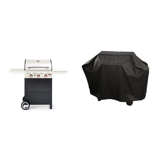 Barbecook Gasgrill Spring 300, crème/beige, 133 x 57,4 x 115 cm, 2236930210 + Abdeckhaube