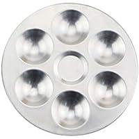Detectoy Mezcla de Paleta, Compartimentos Separados de Aluminio Mezcla de Acuarela Mezclador de Colores Mezclador de cerámica Herramientas para Colorear Arcilla para Arcilla polimérica