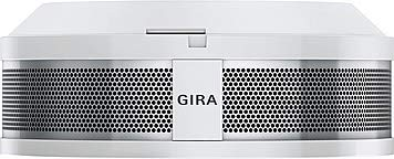 feuermelder klein Gira Rauchwarnmelder Dual Q DIN14604, vernetzbar über Funk und Draht, reinweiß, 233602