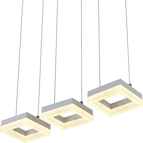 Barra de moda luces LED luces de aluminio acrílico luces colgantes 3 cabezales accesorios de la lámpara colgante para sala de estar del comedor,RCwithDimmable