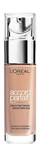 L'Oréal Paris - Fond de Teint Fluide Accord Parfait - Peaux Sèches à Normales - Teinte : Beige Rosé (3.R) - 30 ml