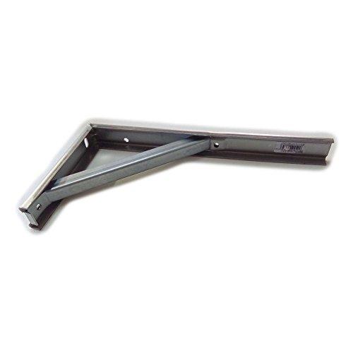 Mensola da cantina/ripostiglio in acciaio tropicalizzato con rompitratta cm. 50.